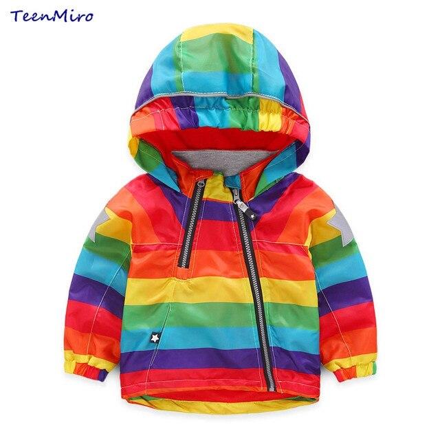 Kids Fleece Jackets Boys Hoodie Windbreaker Children Colorful Windproof Trench Coat For Girls Outwear Blazer Autumn Raincoat