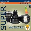 Супер GU10 из светодиодов COB прожектор диммирования 6 Вт 9 Вт 12 Вт из светодиодов глыбы внимания светильники ампулы лампе теплый белый / белый 85 - 265 В