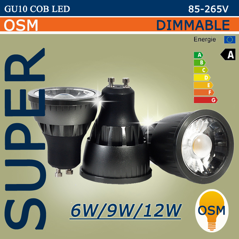 buy super gu10 led cob spotlight dimmable. Black Bedroom Furniture Sets. Home Design Ideas