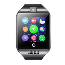 2017 Bluetooth Reloj Inteligente Q18 Apoyo Sim Hiwego Conexión Cámara Android IOS Relojes Deportes relogio Smartwatch Llamada de Recordatorio