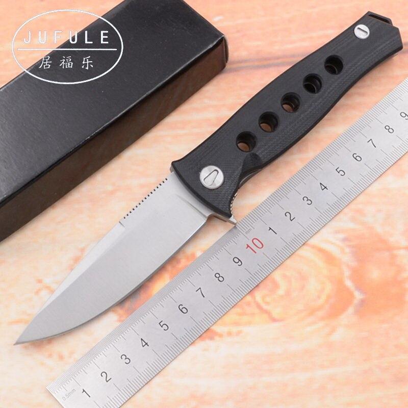 JUFULE Dr Mayo F95 Folding Knives D2 Blade G10 Steel Handle Ball Bearing Camping Hunting Outdoor Pocket EDC Tool Tactical Knife