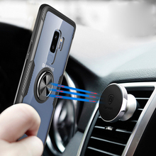 Get more info on the Luxury Magnetic Car Holder Ring Silicone TPU Soft Phone Case For Samsung S9 S10 Plus Lite Note 9 Bumper Full Shockproof Cover