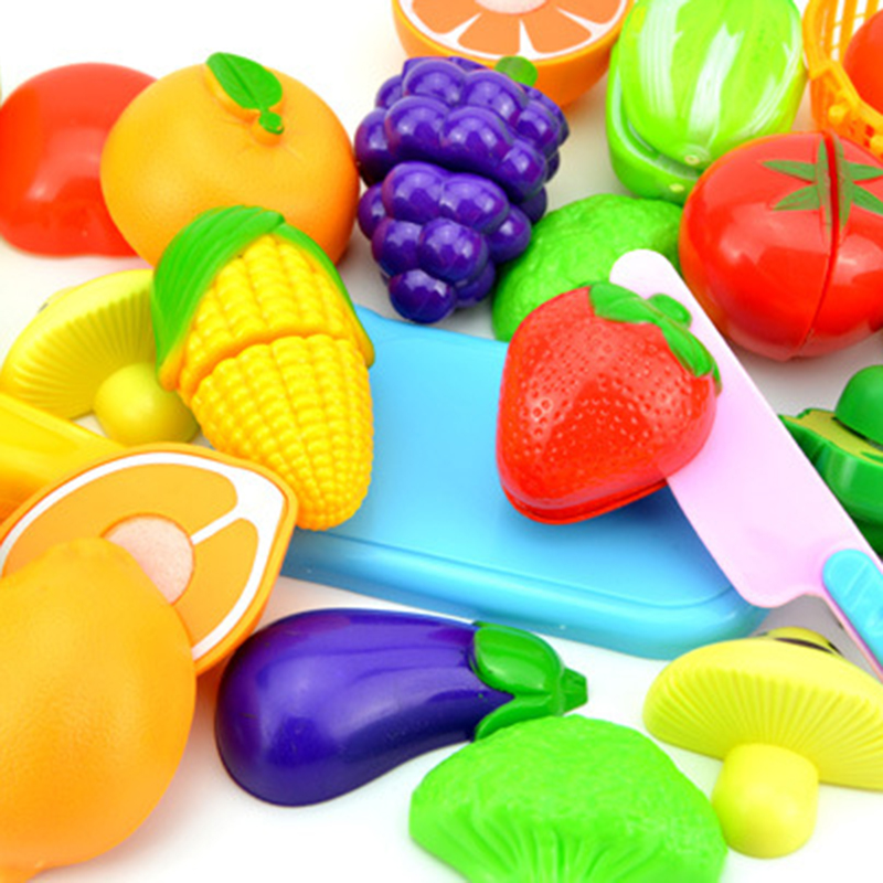 bd2c53530 6 peças Role Play Brinquedos de Cozinha Fruta Vegetal Fingir ...