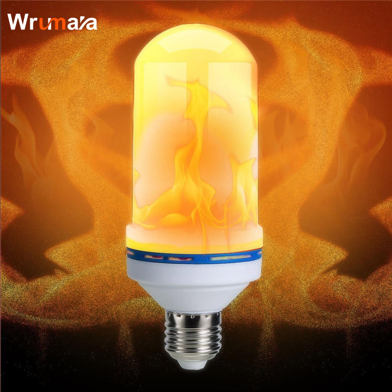 Wrumava E27 7W LED Flame Effect Fire night Light Bulbs Flickering Emulation Decorative Lamps Simulated Vintage Flame Bulb