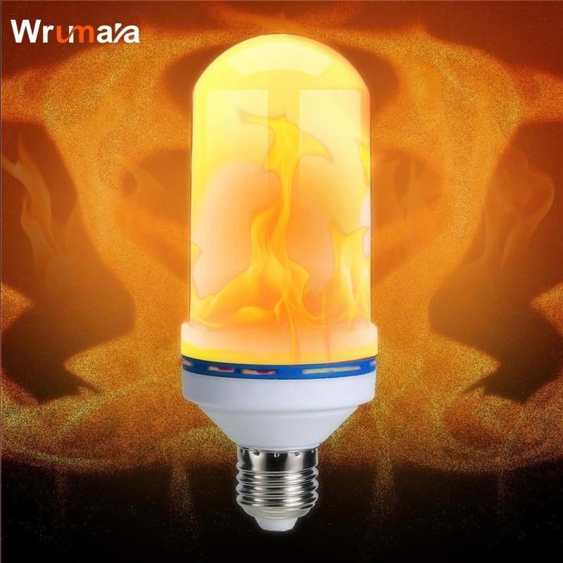 Wrumava E27 7W LED Flame Effect Fire night Light Bulbs Flickering Emulation Decorative Lamps Simulated Vintage Flame Bulb