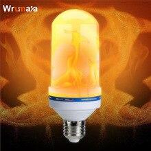 Wrumava E27 LED Flame Effect Fire night Light Bulbs Flickering Emulation Decorative Lamps Simulated Vintage Flame Bulb AC85-265V