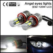 Высокой Мощности Без Ошибок Для BMW E92 H8 120 Вт LED Angel Eyes Halo Кольцо Лампочки