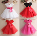 Free Shipping Retail Girl Dresses Children Dresses Party Dress Costume Girl Christmas Birdthday Party Dress Nine Colors 90-140