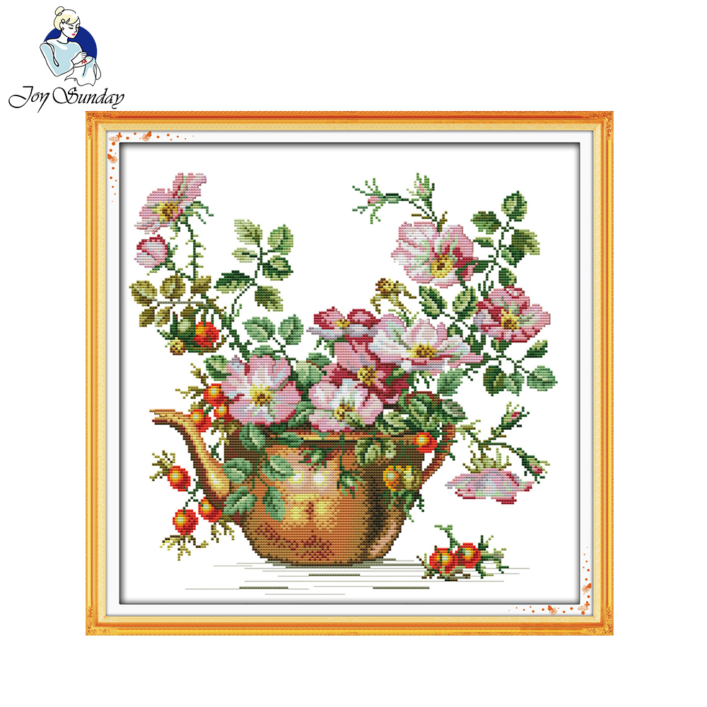 Joy sunday floral style the pottery vase cheap cross stitch kits joy sunday floral style the pottery vase cheap cross stitch kits sale handcraft online stores for sitting room decoration in package from home garden on izmirmasajfo