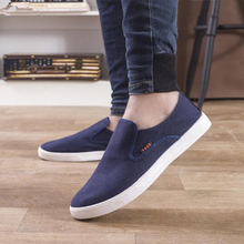 LAISUMK New Arrival Slipony Men Fashion Sneakers Flats Casual Shoes Denim Canvas Nice Comfortable Loafer