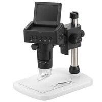 2018 New! Free shipping! UM025 10X to 200X 2.4 inch HDMI video screen digital microscope, portable pocket video microscope