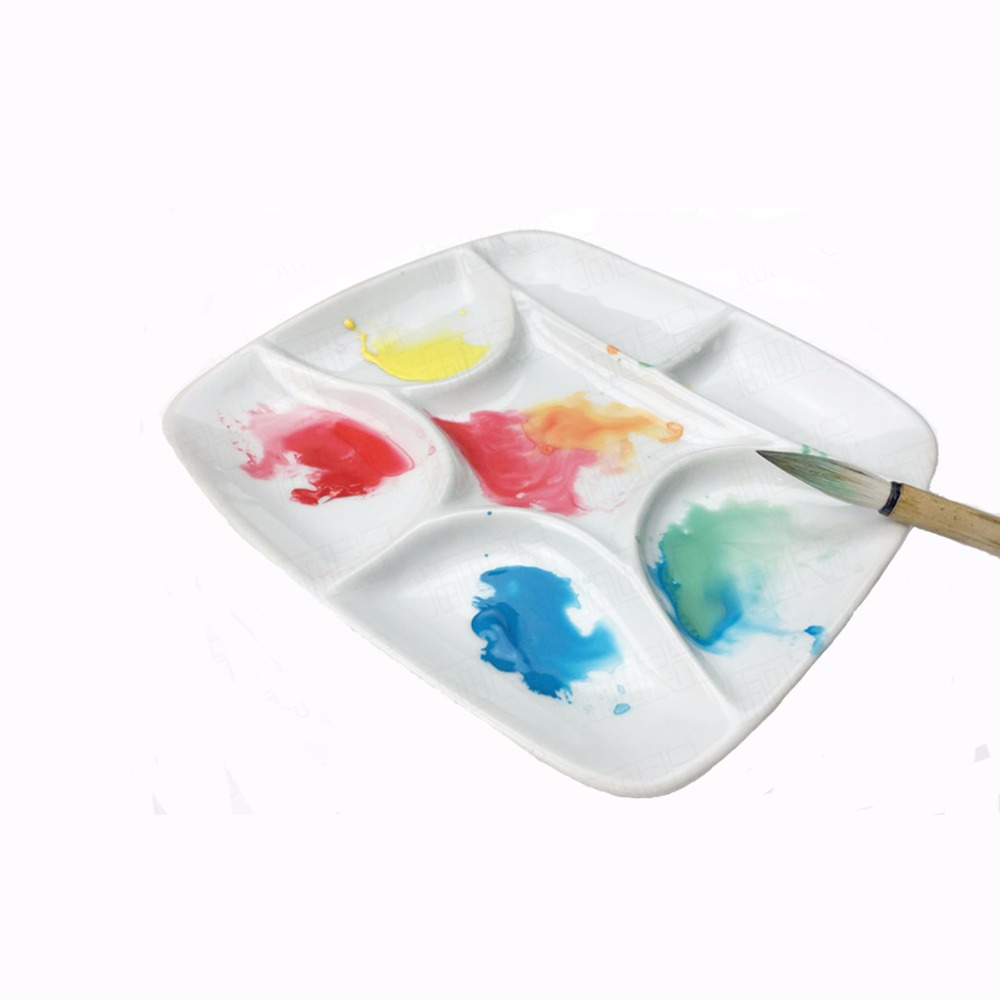 MEEDEN 7-hole  palette high quality acrylic gouache watercolor palette ceramic palette watercolor palette school