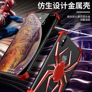 Image 5 - Funda de Metal spider The element stents para iPhone X XS Max, funda, carcasa para iPhone 11 Pro Max Xr, estilo de lujo, funda a prueba de golpes para teléfono