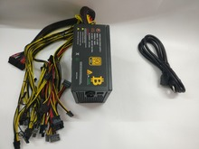 ETH miners power supply 1600W 12V 125A output. Including 20PCES 4Pin 4+4pin 6+2Pin 24Pin SATA connectors YUNHUI