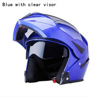 Blue Motorcycle Helmet FLIP UP Helmet Motorbike Motorcross Full Face Helmet Capacete Cascos Para Moto DOT