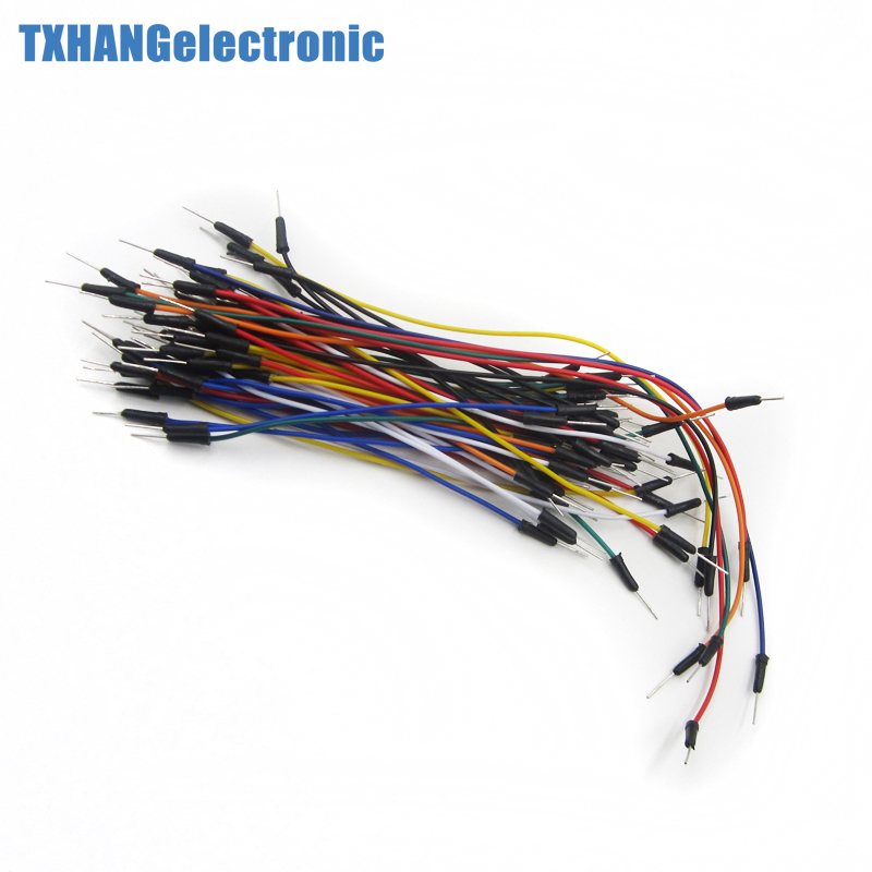 65pcs Solderless Flexible Breadboard Jumper Wires Cable Male to Male for arduino