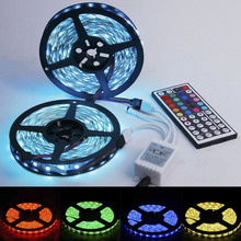 xtf2015 300 600LEDs Flexible LED Lighting Strip Waterproof RGB 5050 SMD Two Outputs 44k IR Remote