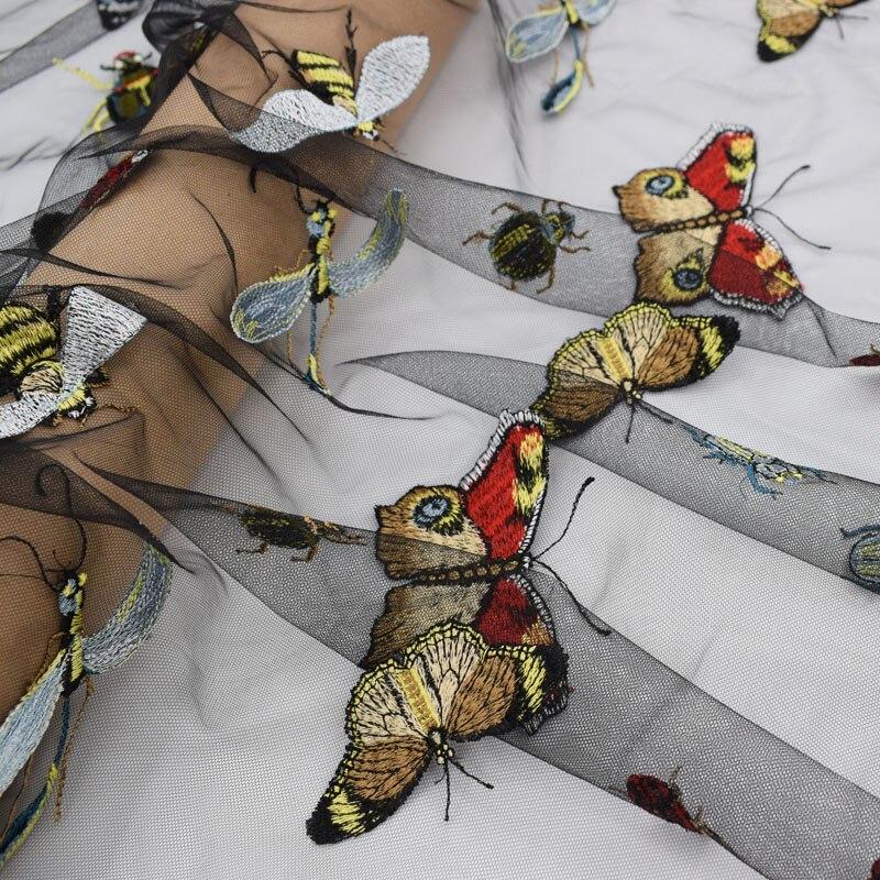 Die Insekten Muster Stickerei Spitze Stoff Mode Mesh Tüll ...