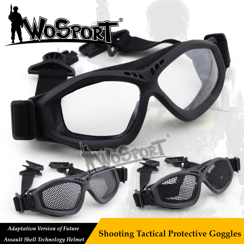 WoSporT Tactical Paintball Len Protect FAST Helmet Glasses For Airsoft Hunting Shooting Army Cycling Outdoor Military Sunglasses