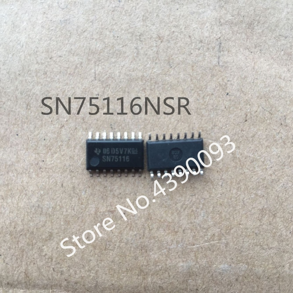 50pcs/lot 100% NEW SN75116 SN75116NSR SOP16 5.2MM 5pcs stc11f02e 35i sop16g sop16 stc11f02e 35i sop16 sop stc11f02e smd new and original ic free shipping