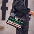 Marca kate mujeres nuevas bolsas de mensajero pequeña bolsa de hombro de alta calidad de LA PU bolso de mano de cuero embrague pequeños bolsos de Cocodrilo