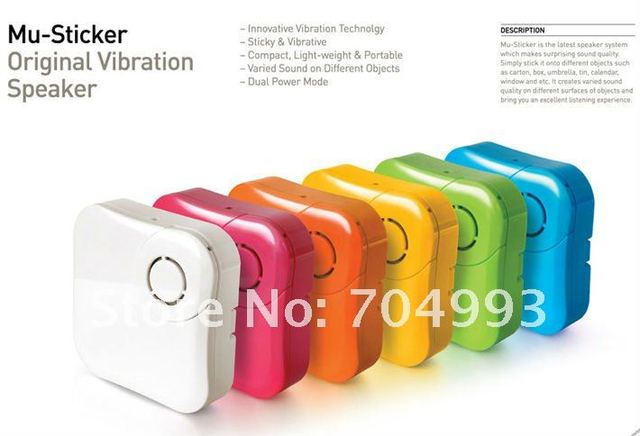 2 pc/lot vibration stereo speaker System portable MP3 MP4 computer cellphone speaker Pink color in stock