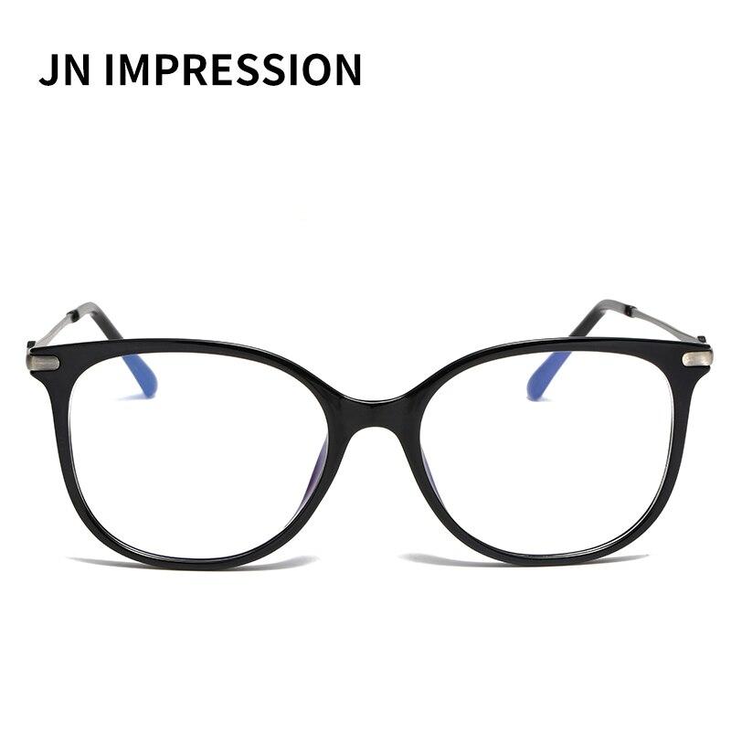 J N New TR90 Eyeglasses Eyewear Frame Fashion Black Vintage Metal Optical Frame Reading Glasses Women Eyeglasses Frames WK2001