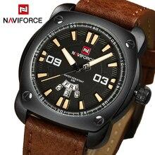 Luxury Brand NAVIFORCE Fashion Casual Quartz Watch Men Sport Military Watches Male Corium Leather Army Formal Date Wristwatch