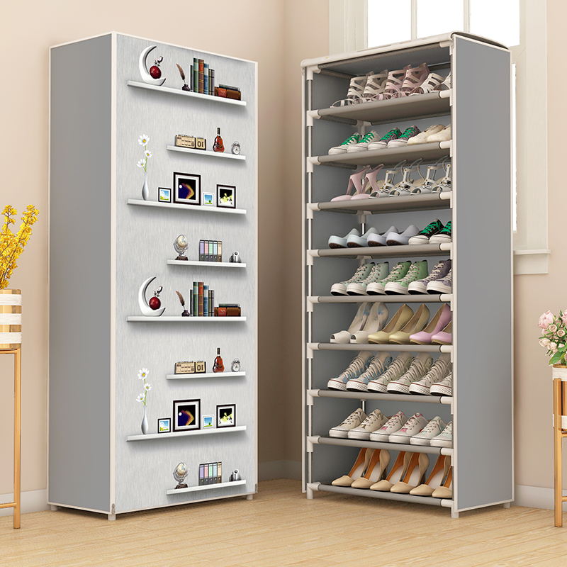 Shoe Rack Simple Assembled Dustproof Space Saving Shoe Organizer Storage Closet System Home Shoes Shelf Cabient Keep Room Neat