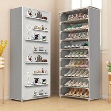 Нетканый Тканевый шкаф для хранения обуви минималистичный современный простой монтаж Гостиная обувь Органайзер мебель пылезащитный шкаф для обуви