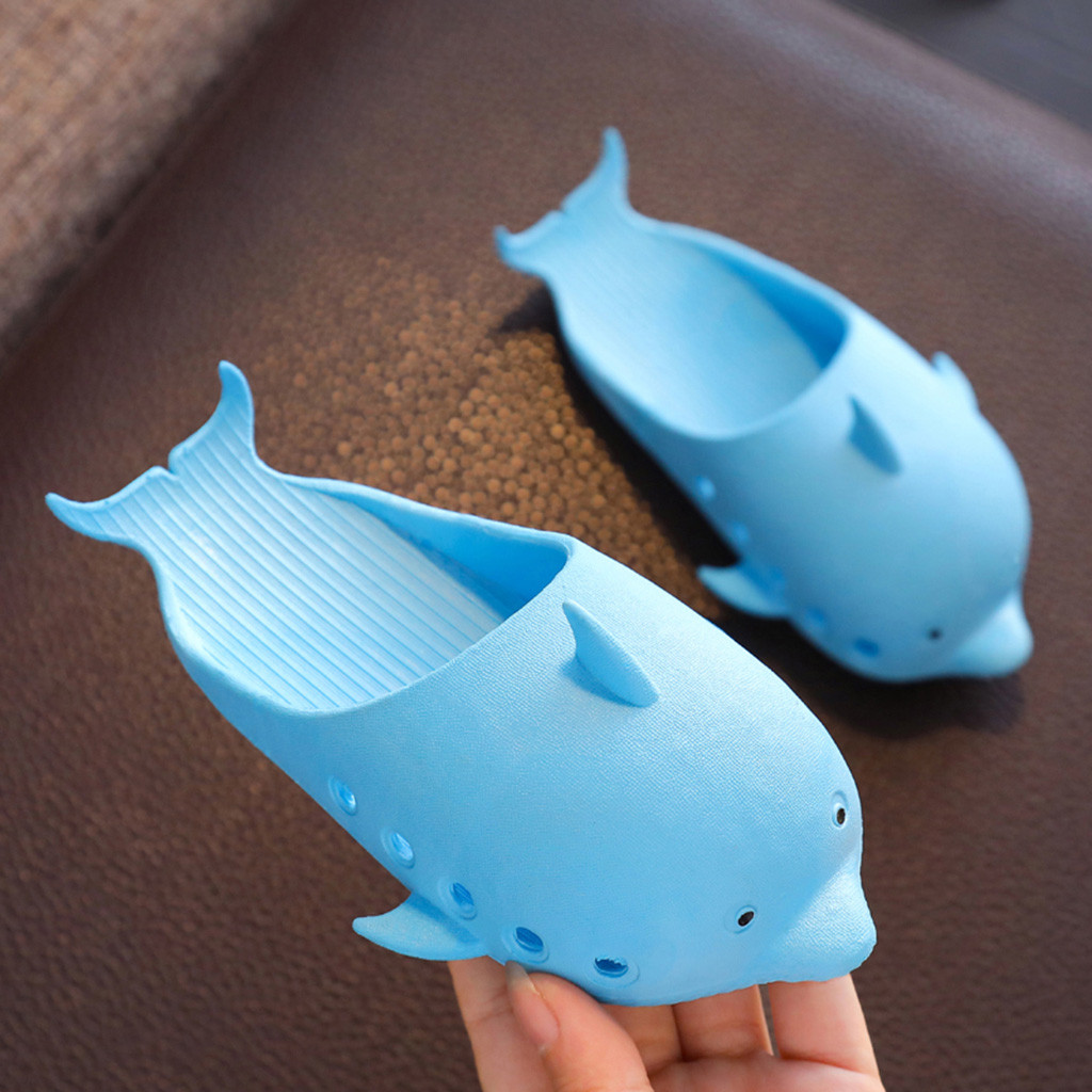 Summer Toddler Infant Dolphin Girls Boys Soft Slippers Casual Beach Shoe Sandals