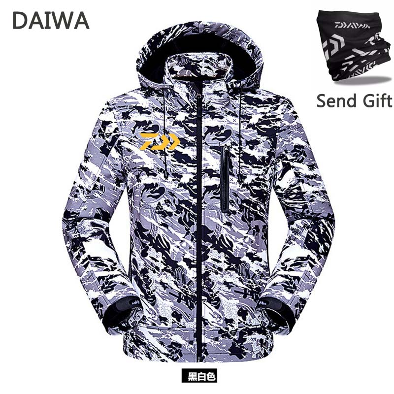2019 DAIWA New Fishing Clothes Winter Keep Warm Waterproof Outdoors Hiking Thicken Camouflage Jacket Send Gift