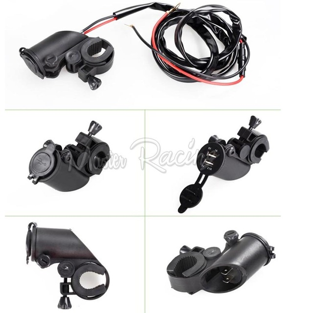 New Motorcycle car Dual USB Charger Adapter Socket Power Outlet 12V 24V LED Moto bike Motorcycles intelligent new function