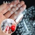 1 pcs New Beautiful Branco Do Floco De Neve Prego Transferência Foil Sticker Decoração do Ofício de Papel DIY Beleza Do Prego Ferramentas