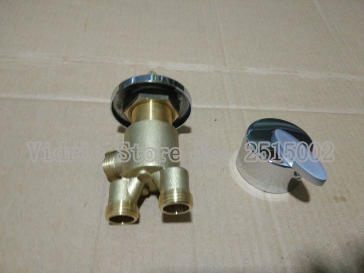 Wholesale 1 inlet 2 outlet bathroom faucet mixer master switch/separator, Brass shower room mixing valve bathtub valves chrome