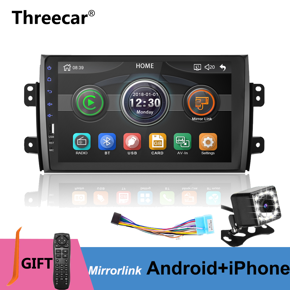 9'' 2din Car Radio Player for <font><b>Suzuki</b></font> <font><b>SX4</b></font> 2006-2016 Mirrorlink Android 9.0 iphone Bluetooth Car Multimedia MP5 Player No Android image