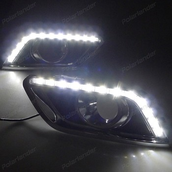 1 set lLED drl for B/UICK E/ncore 2013-2015 car accessory auto part daytime running light yellow turn signal