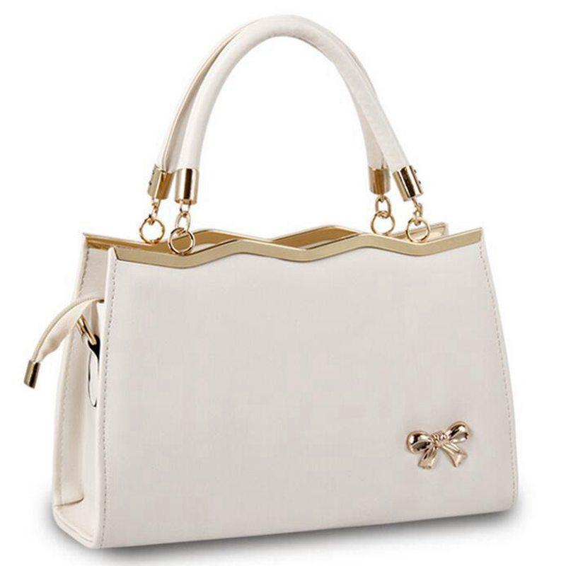 women messenger bags luxury tote crossbody purses leather clutch bow handbags famous brands designer 2017 High quality S-222