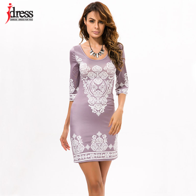 8e73087896 IDress Wholesale Women s Apparel Elegant Vestidos Verano 2017 Roupa Feminina  Ethnic Floral Dress Bodycon Short Casual Dresses