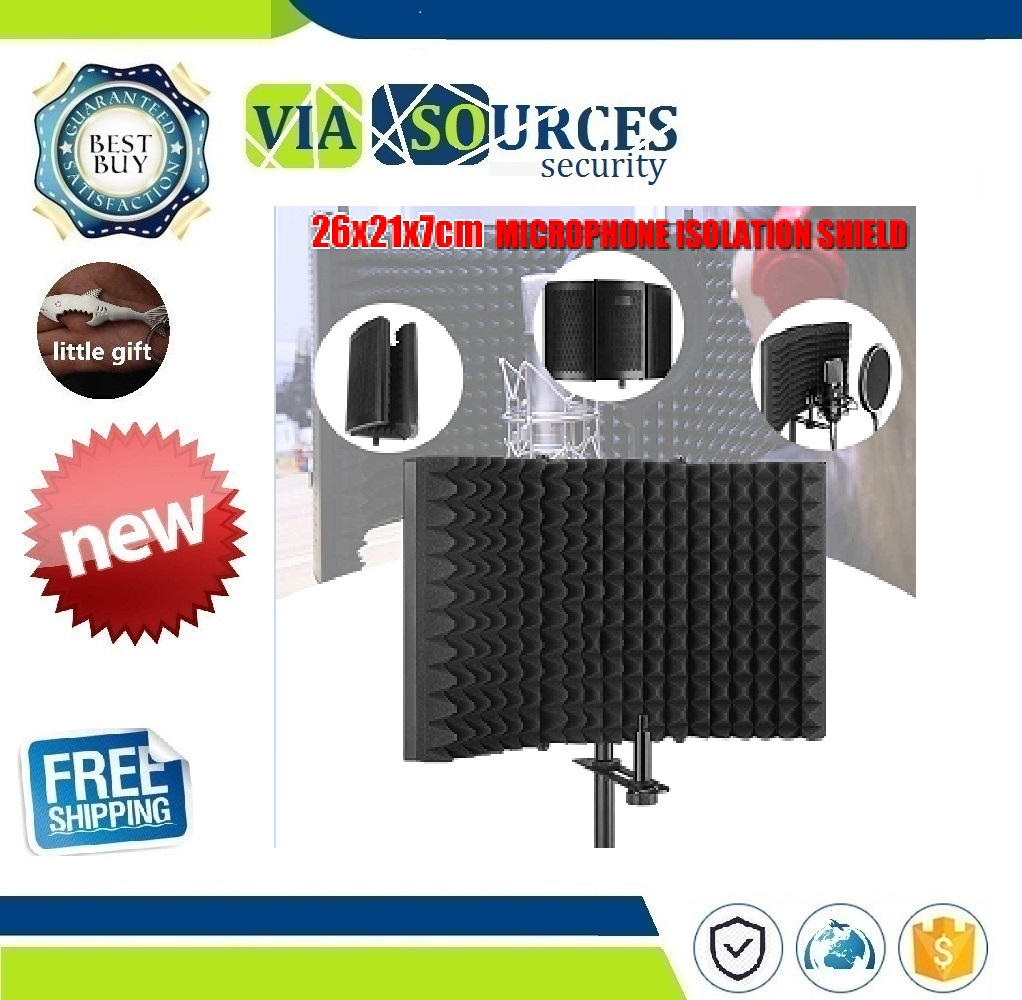 Foldable Microphone Acoustic Isolation Shield Acoustic Foams Panel Studio for Recording Live Broadcast Microphone AccessoriesFoldable Microphone Acoustic Isolation Shield Acoustic Foams Panel Studio for Recording Live Broadcast Microphone Accessories