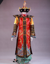 China Qing Dynasty Emperor & Queen clothes  Manchu costume Phoenix robe dragon stage studio portrait photography theme