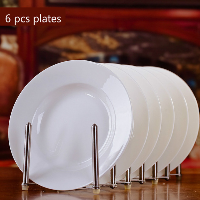 Chinese Style Pure White Bone China Tableware 8*inch Deep Dishes Plates Dining Room Bread & Chinese Style Pure White Bone China Tableware 8*inch Deep Dishes ...