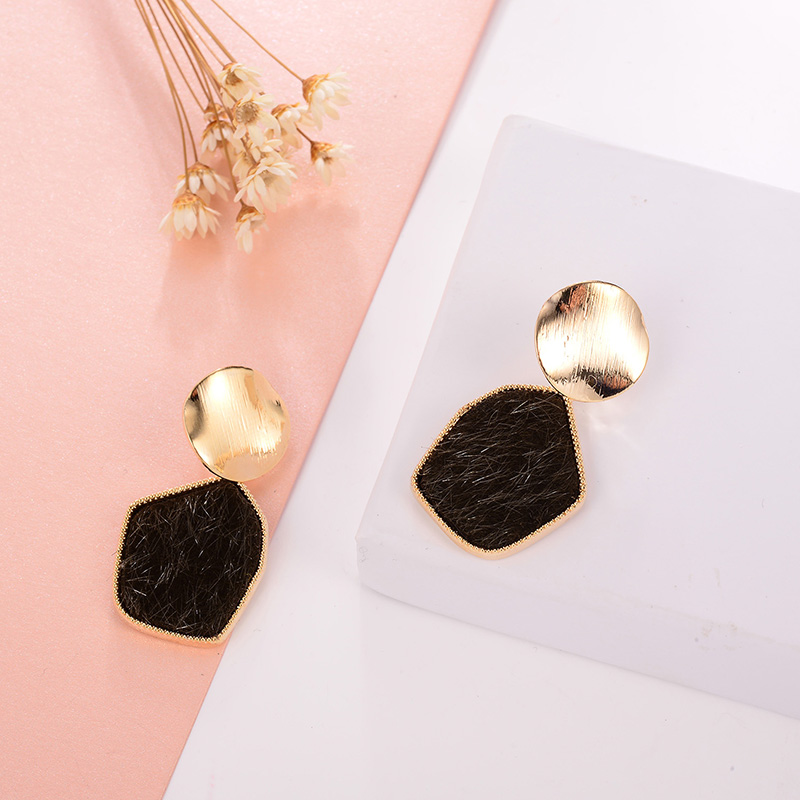 Gold Black Color Drop Earrings for women Ethnic Vintage Fashion Jewelry Women Accessories Dangle Earrings Female Brincos in Drop Earrings from Jewelry Accessories