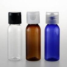 5pcs 30ml transparent blue brown long round shoulder bottle Flip the lid Butterfly cover sample sack bottling BQ128