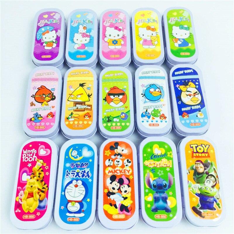 1 Box Mini Small Size Cartoon Animal Minions Kawaii Children School Supply Cute Pencil Erasers Rubber Eraser Gift For Kids