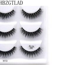 500pairs/100box 100% Real Mink Fake Eyelashes 3D Natural False Eyelashes 3d Mink Lashes Soft Eyelash Extension Makeup Kit Cilios