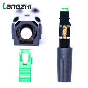 Image 3 - Langzhi 100pcs/lot SC Apc 50mm Zf Ftth Fiber Optic SC Connector SC/APC Optical Fiber Connector Sc apc Fast Connector