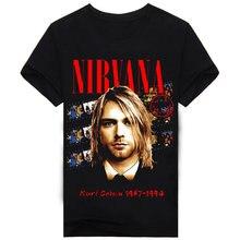 2017 T Shirt Brand Clothing Nirvana Hot Sale Summer Style Pattern 3D Mens T Shirts Big Size Slim Fitness Hip Hop T Shirts A160