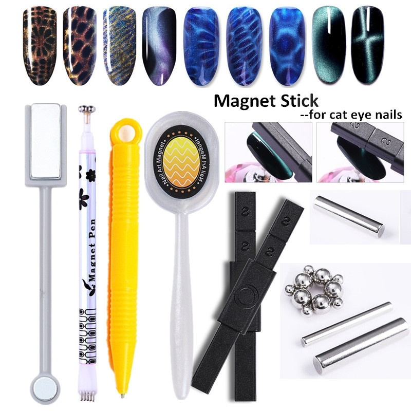 1PC Strong Magnetic Stick For Nails 3D Cat Eye Effect UV Gel Polish Nail Art Tool Board Design Tools