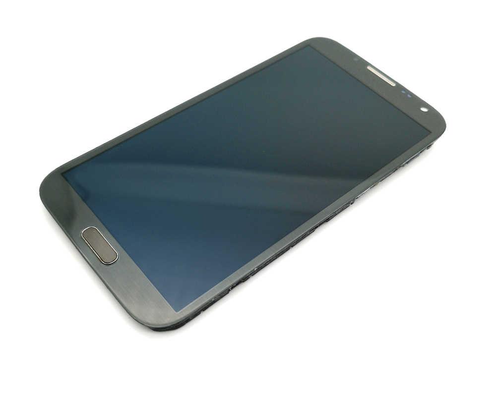 Super AMOLED LCD Display untuk Samsung Galaxy Note 2 N7100 LCD Display Rakitan Digitizer Layar Sentuh